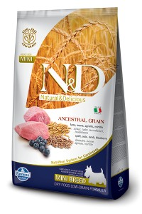 LOW GRAIN LAMB&BLUEBERRY ADULT MINI 14KG
