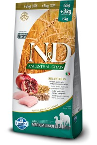LOW GRAIN SELECTION ADULT MEDIUM &MAXI 24+6 KG GRATIS